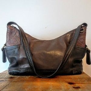 The Sak Small Patchwork Leather Hobo Bag